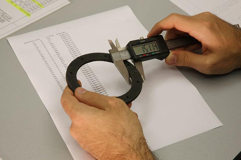 фрикционные кольца - контроль качества